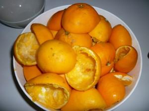 Отпадъци от изцедени портокали