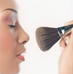 Woman Using Make-up Brush