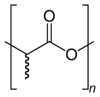 Polylactic-acid-2D-skeletal